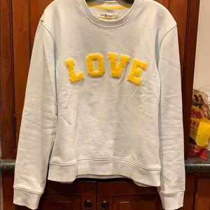 Tory Burch /soul cycle LOVE sweatshirt